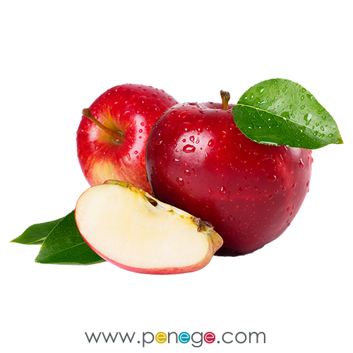 kırmızı elma dilimi png